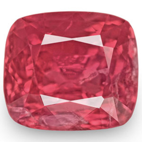 IGI Certified Burma Spinel, 1.40 Carats, Lustrous Orangy Pink Cushion