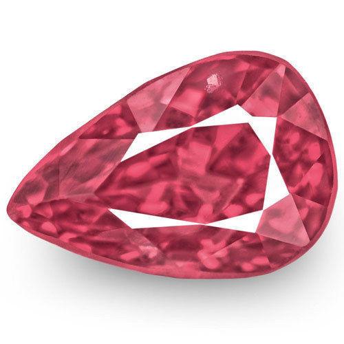IGI Certified Burma Spinel, 1.09 Carats, Rich Pink Pear
