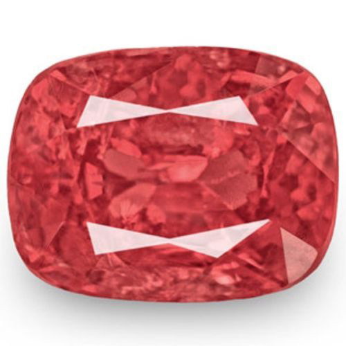 IGI Certified Burma Spinel, 1.42 Carats, Reddish Orange Cushion