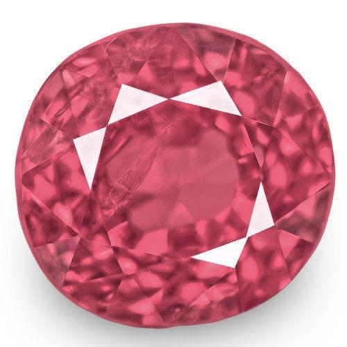 IGI Certified Burma Spinel, 1.15 Carats, Lustrous Intense Pink Round
