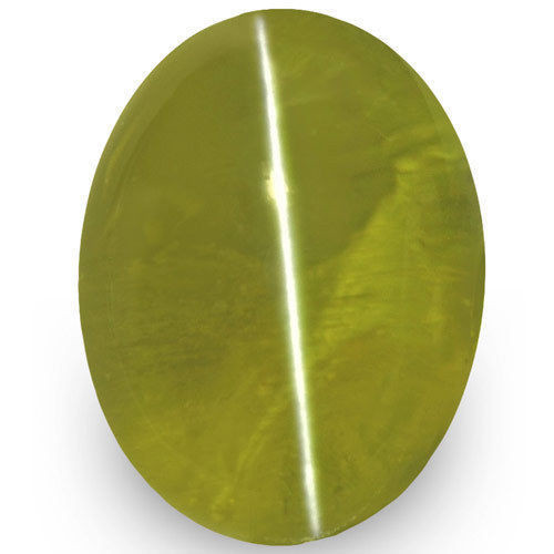IGI Certified Sri Lanka Chrysoberyl Cat's Eye, 1.45 Carats, Intense Green