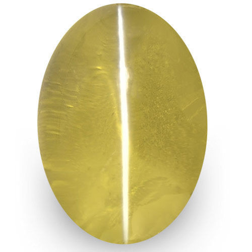 IGI Certified Sri Lanka Chrysoberyl Cat's Eye, 1.47 Carats, Brownish Yellow