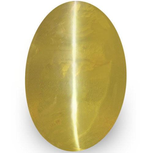 IGI Certified Sri Lanka Chrysoberyl Cat's Eye, 1.37 Carats, Golden Yellow