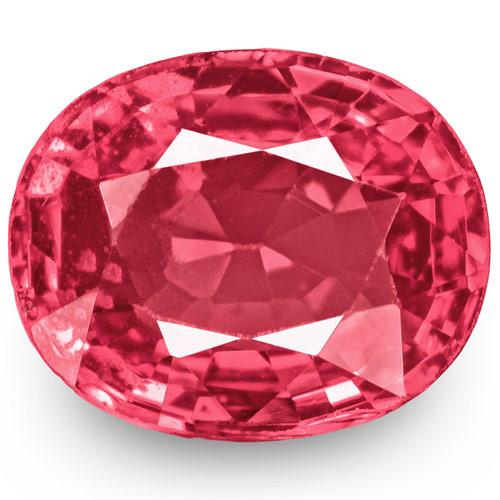 IGI Certified Burma Spinel, 0.77 Carats, Lustrous Pink Cushion