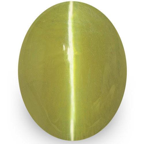 IGI Certified Sri Lanka Chrysoberyl Cat's Eye, 1.79 Carats, Brownish Green