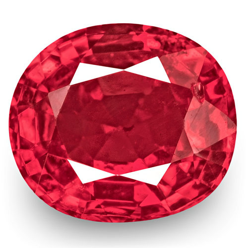 IGI Certified Burma Spinel, 0.70 Carats, Hot Pink Oval