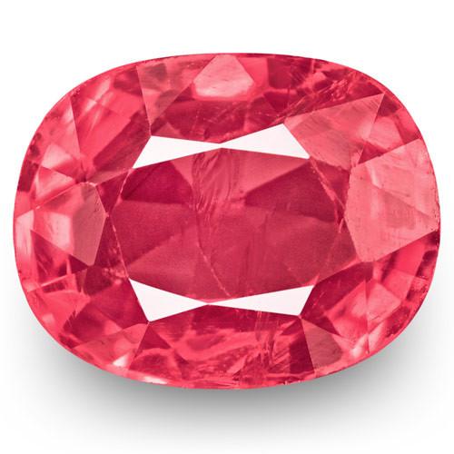 IGI Certified Burma Spinel, 0.92 Carats, Lustrous Pink Oval