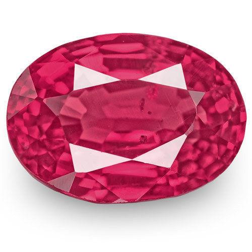 IGI Certified Burma Spinel, 0.91 Carats, Deep Reddish Pink Oval