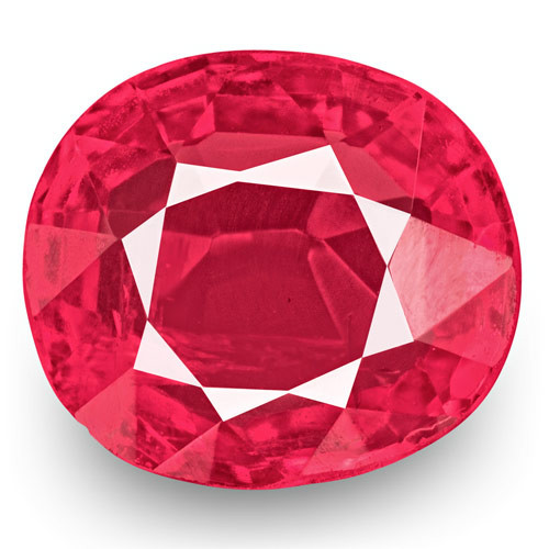 IGI Certified Burma Spinel, 0.75 Carats, Hot Neon Pink Oval