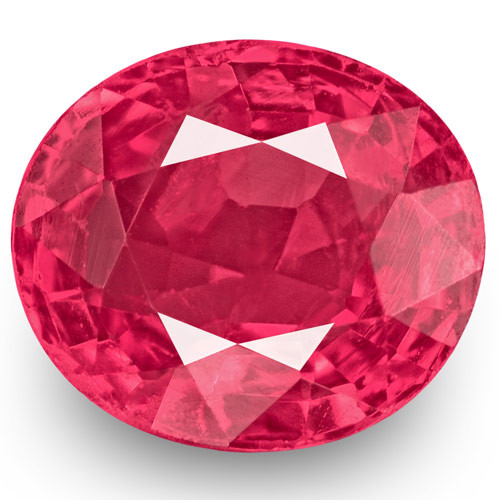 IGI Certified Burma Spinel, 0.77 Carats, Bright Pink Oval
