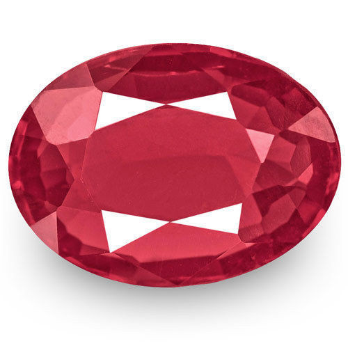 IGI Certified Burma Spinel, 0.70 Carats, Intense Reddish Pink Oval