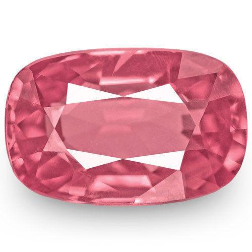 IGI Certified Burma Spinel, 0.78 Carats, Lustrous Pink Cushion