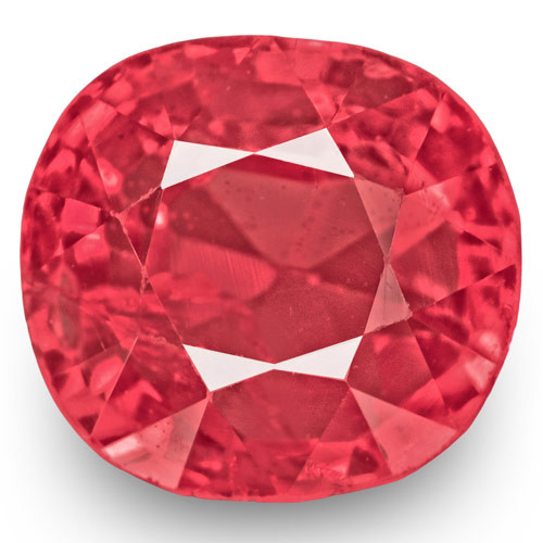IGI Certified Burma Spinel, 1.03 Carats, Medium Pink Cushion