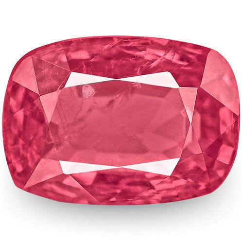 IGI Certified Burma Spinel, 0.74 Carats, Deep Pink Cushion