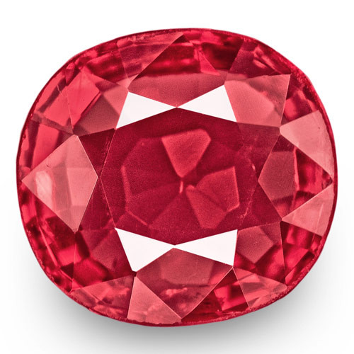 IGI Certified Burma Spinel, 0.74 Carats, Intense Pink Cushion