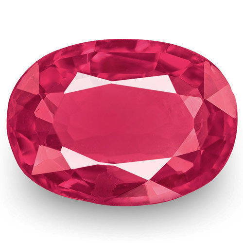 IGI Certified Burma Spinel, 0.91 Carats, Rich Reddish Pink Oval