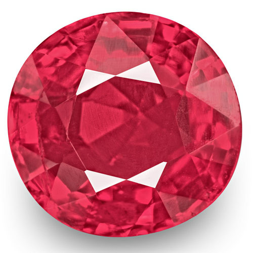 IGI Certified Burma Spinel, 0.86 Carats, Neon Pink Cushion