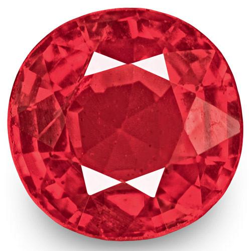 IGI Certified Burma Spinel, 0.74 Carats, Intense Reddish Pink Cushion