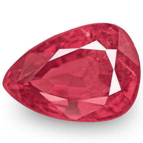 IGI Certified Burma Spinel, 0.90 Carats, Reddish Pink Pear