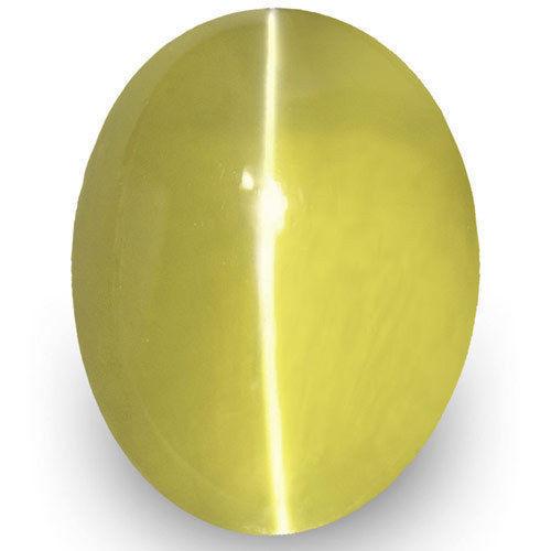 IGI Certified Sri Lanka Chrysoberyl Cat's Eye, 1.66 Carats, Deep Yellow