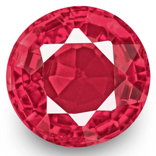 IGI Certified Burma Spinel, 0.57 Carats, Hot Pink Oval