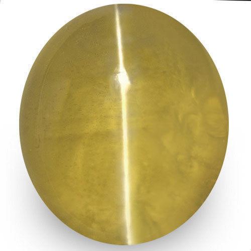 IGI Certified Sri Lanka Chrysoberyl Cat's Eye, 1.74 Carats, Yellowish Brown