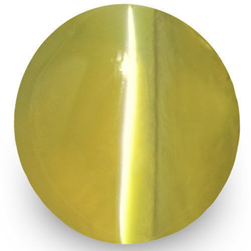 IGI Certified Sri Lanka Chrysoberyl Cat's Eye, 1.70 Carats, Greenish Yellow