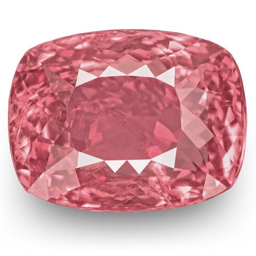 IGI Certified Tajikistan Spinel, 4.85 Carats, Lustrous Pink Cushion