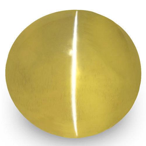 IGI Certified Sri Lanka Chrysoberyl Cat's Eye, 1.94 Carats, Golden Yellow