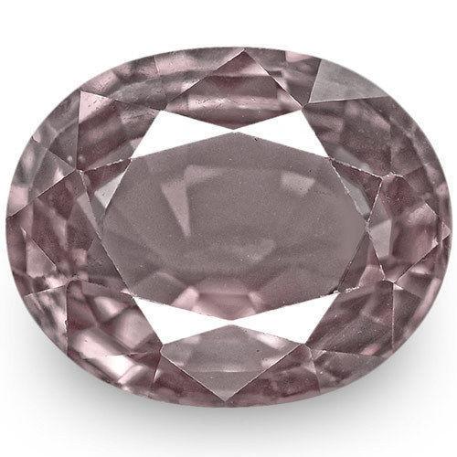 IGI Certified Sri Lanka Spinel, 3.17 Carats, Pink Grey Oval
