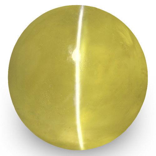 IGI Certified Sri Lanka Chrysoberyl Cat's Eye, 2.64 Carats, Deep Yellow