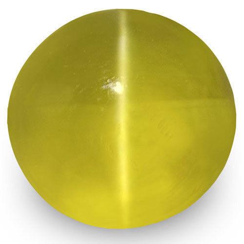 IGI Certified Sri Lanka Chrysoberyl Cat's Eye, 1.82 Carats, Greenish Yellow