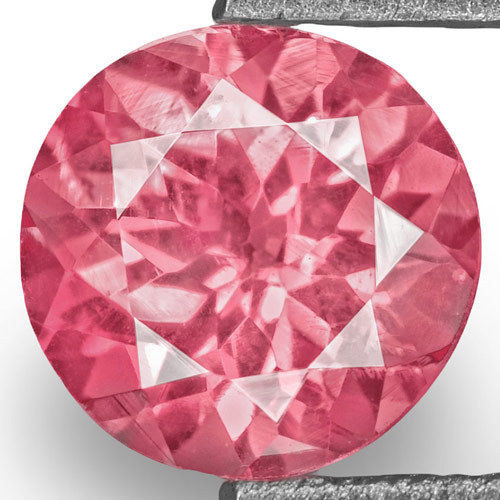IGI Certified Tanzania Spinel, 0.77 Carats, Bright Pink Round