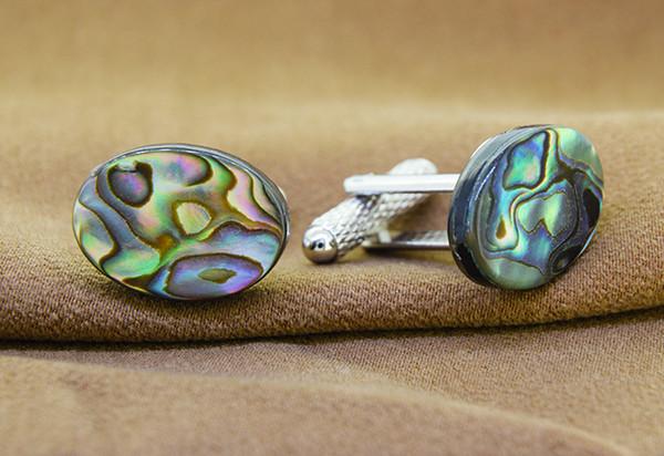 Genuine Abalone / Paua Oval  Shell Cuff links