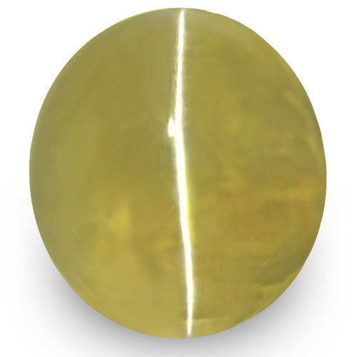 IGI Certified Sri Lanka Chrysoberyl Cat's Eye, 1.55 Carats, Olive Green