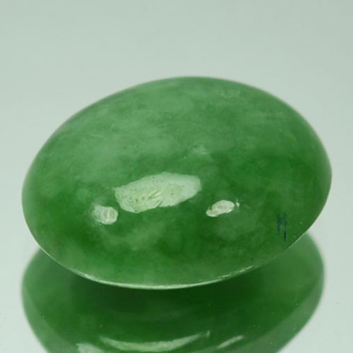 ~UNTREATED~ 3.24 Cts Natural Green Jade Cabochon Burmese Gem