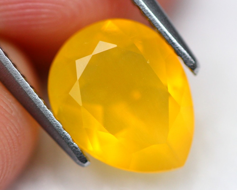 Fire Opal 1.60Ct Vibrant Yellow Mexican Fire Opal  A1906