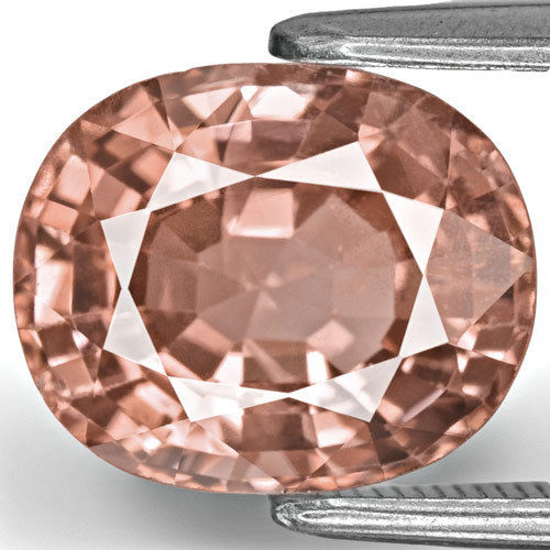GII Certified Burma Spinel, 3.87 Carats, Peachy Pink Oval