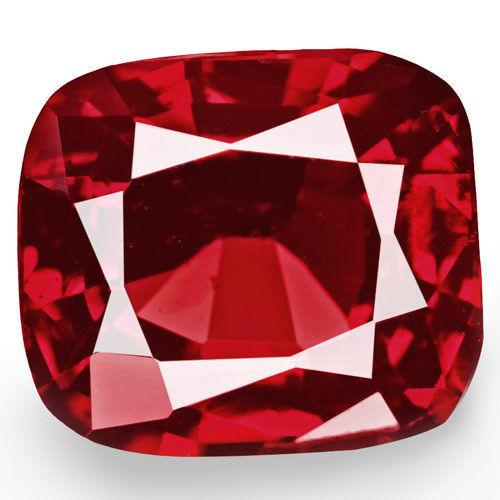 Burma Spinel, 1.00 Carats, Red Cushion