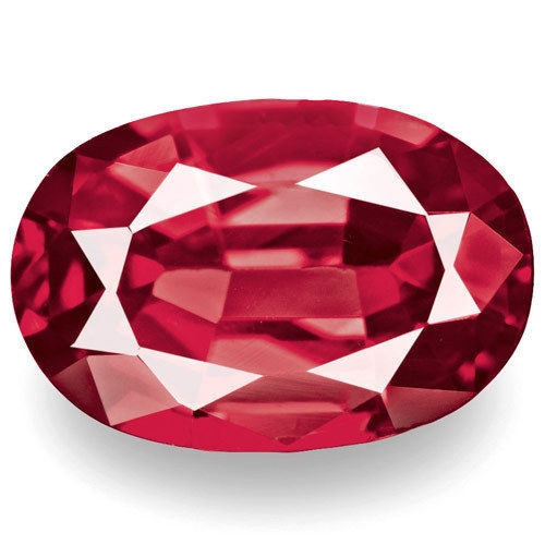 Burma Spinel, 0.75 Carats, Red Oval