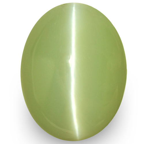 IGI Certified Sri Lanka Chrysoberyl Cat's Eye, 8.30 Carats, Pastel Green