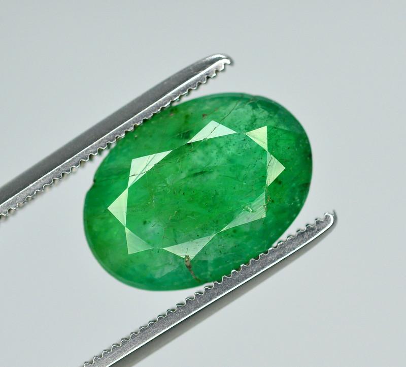3.30 Ct Brilliant Color Natural Zambian Emerald