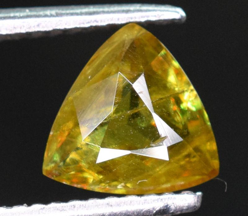 1.30 carats fiery Green sphene tantanite Gemstone