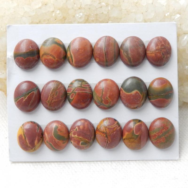 1 Set Multi Color Jasper Gemstone Cabochons Jasper Cabochon, Polished Gem D