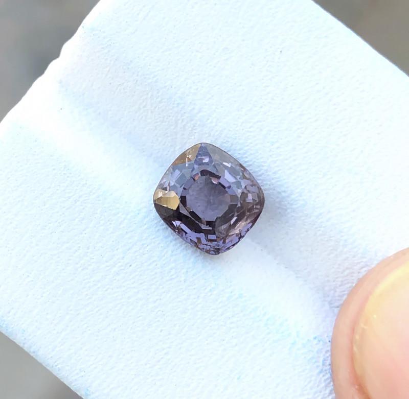 Black Friday Sale 2.35 Ct Natural Purplish Transparent Burmese Spinal Gemst