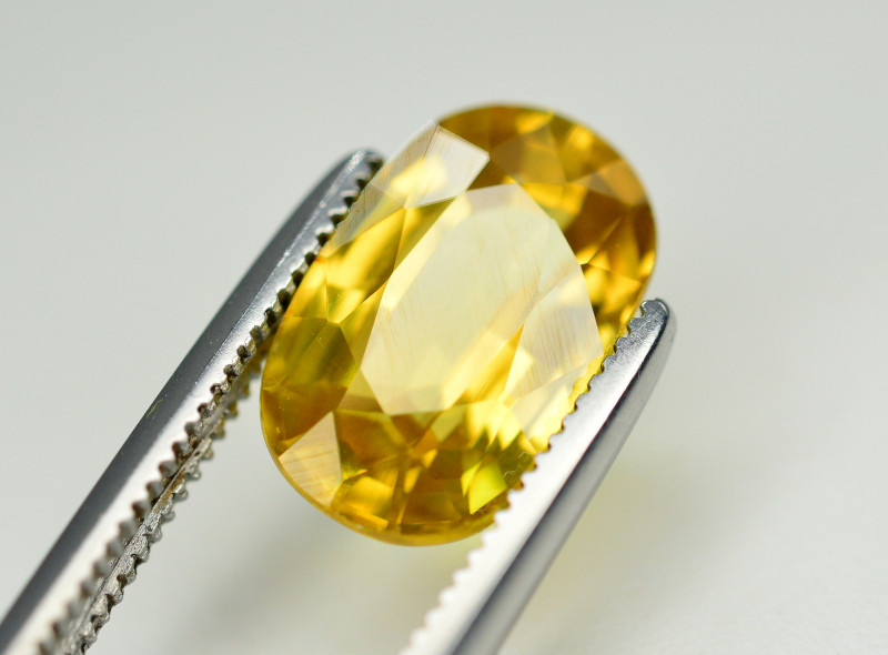 4.15 Ct Gorgeous Color Natural Yellow Zircon