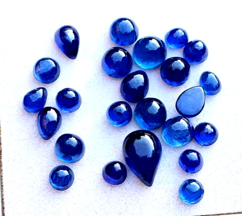 23.4 Tcw. Mixed Sapphire Cabochons - Gorgeous