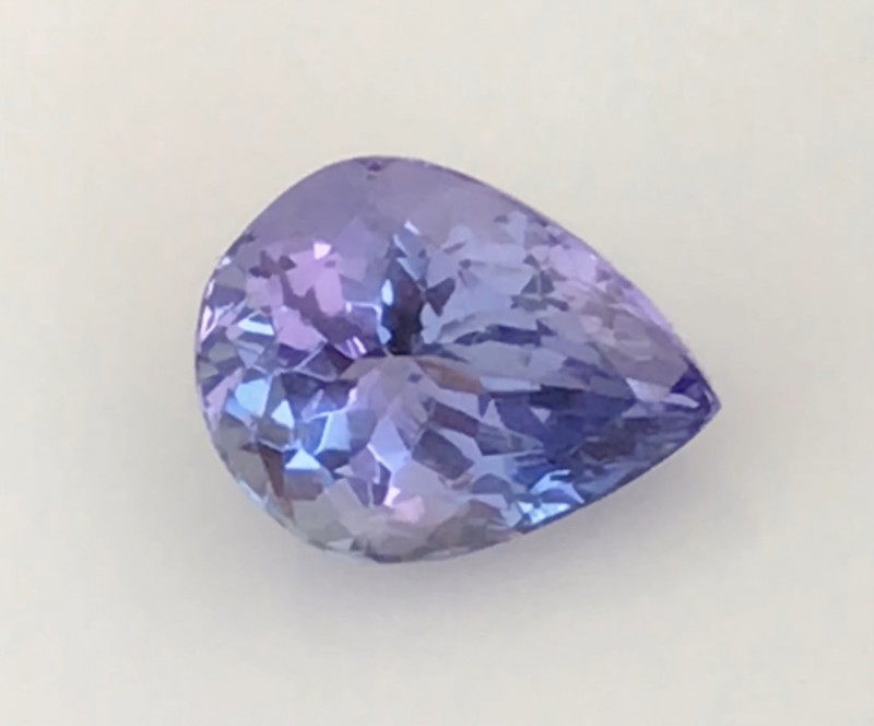 Pretty Lilac Blue Pear Shape Tanzanite  2223