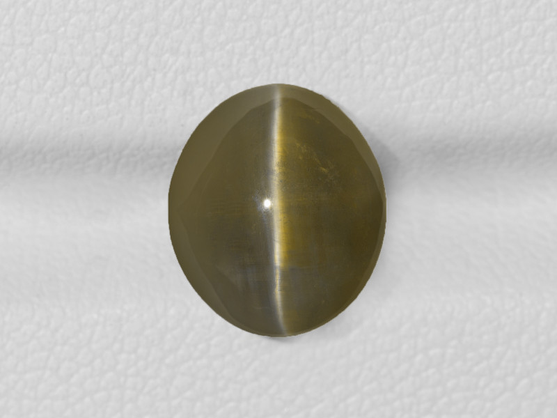 Chrysoberyl Cat's Eye, 6.75ct - Mined in India   Certified by IGI