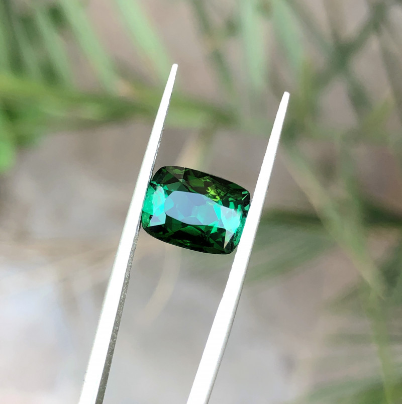 2.85 Ct Natural Greenish Transparent Tourmaline Ring Size Gemstone